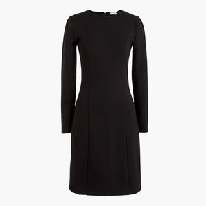 New JCREW Black Long-sleeve stretch ponte Dress
